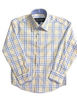 Leo & Zachary Dress Shirt -  Yellow/P.Blue