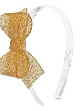 Lilies and Roses Rosane Headband - Clear Gold