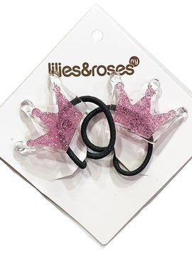 Lilies and Roses Ponytail - Lt Pink Crown - Lilies and Roses