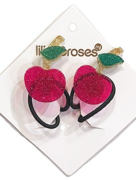 Lilies and Roses Ponytail - Cherries