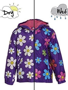 Holly and Beau Purple Flower Rain Jacket