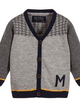 Mayoral Knit Grey Cardigan