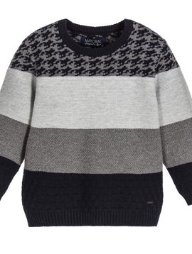 Mayoral Mixed Knit Sweater