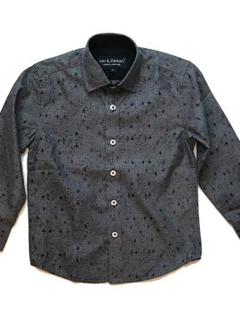 Leo & Zachary Black Spash Dress Shirt