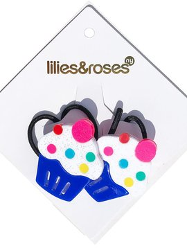 Lilies and Roses Ponytail - Blue Cupcake