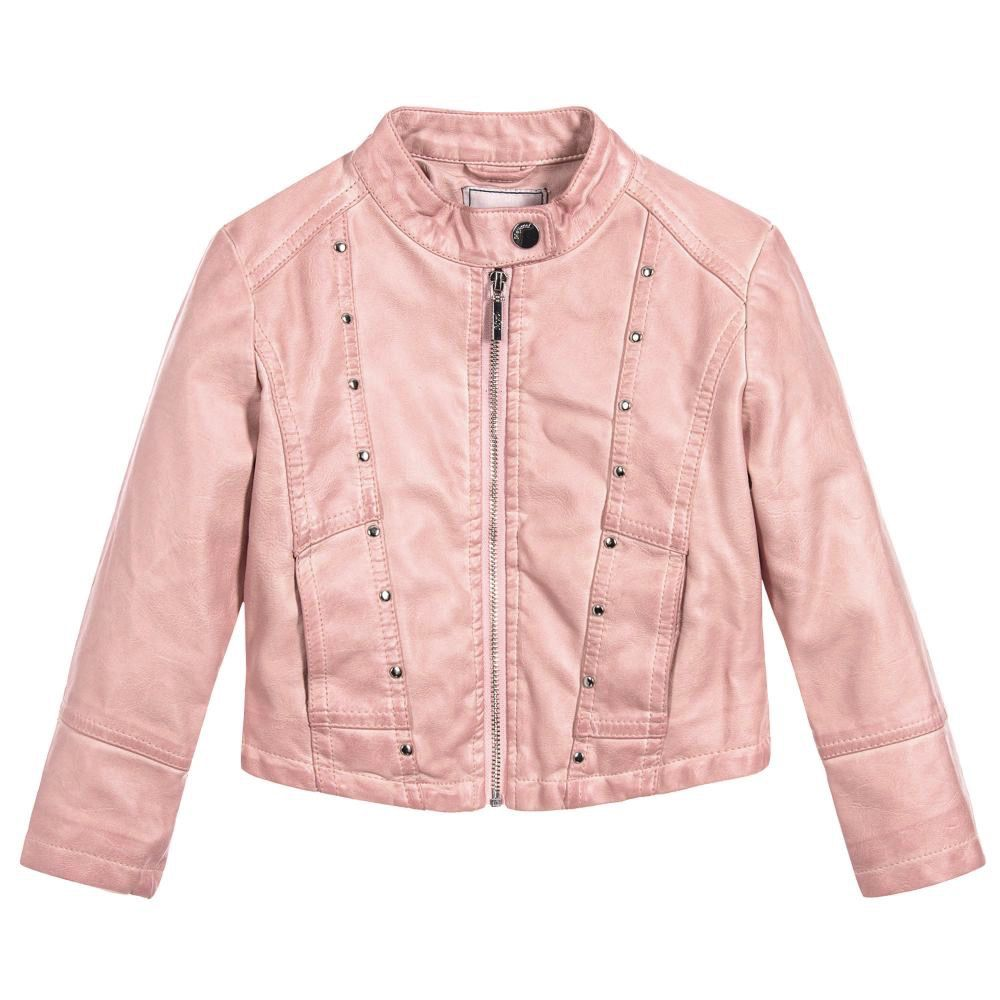 eff5895d5 Faux Leather Jacket - Pink - Pumpkin and Bean
