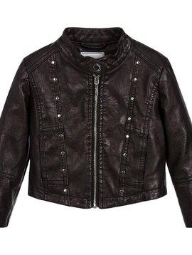 Mayoral Faux Leather Jacket - Black