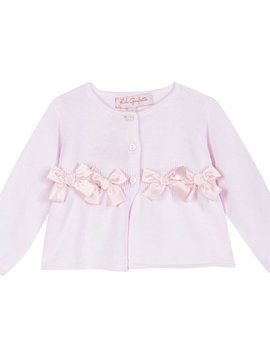 Lili Gaufrette Pink Bow Cardigan