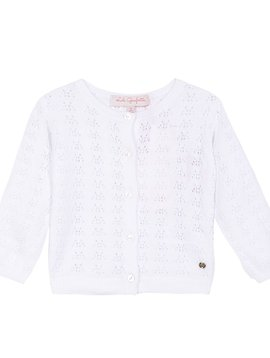 Lili Gaufrette White Pointelle Sweater