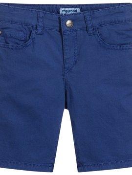 Mayoral 5 Pocket Cotton Short - Blue
