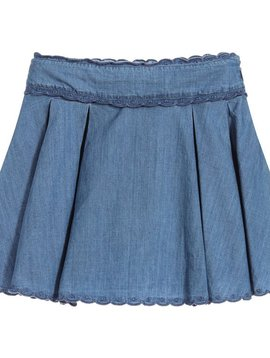 Lili Gaufrette Grata Denim Chambray Skirt