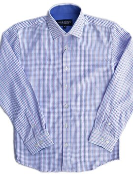 Leo & Zachary Dress Shirt - Ocean Breeze Check