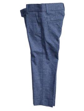 Leo & Zachary Slim Pant - Blue Linen