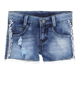 3pommes & B-Karo Cotton Denim Shorts w Pompoms