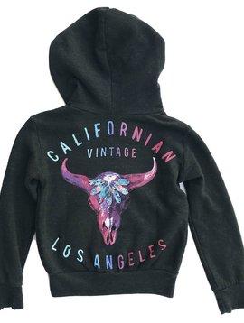 Californian Vintage Pink Desert Zip Hoodie