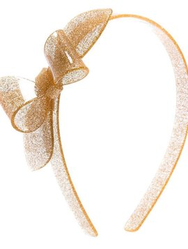 Lilies and Roses Rosane Headband - Glitter Gold
