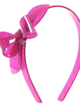 Lilies and Roses Rosane Headband - Glitter Fuchsia Pink