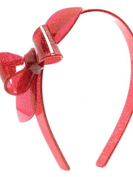 Lilies and Roses Rosane Headband - Glitter Red