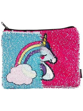 Fashion Angels Sequin Pouch - Unicorn and Rainbow Reveal