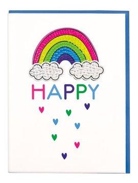 Iscream Rainbow Rhinestone Decal Card - I-Scream