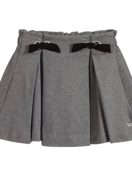 Lili Gaufrette Lea Grey w Bows Skirt - Lili Gaufrette