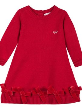 Lili Gaufrette Red Leptine Knit Bow Dress - Lili Gaufrette