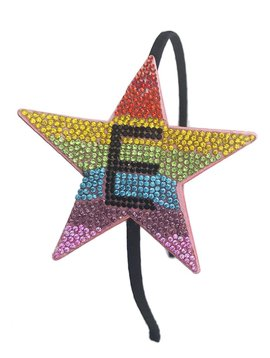 Bari Lynn Rainbow Initial Headband - Bari Lynn Accessories