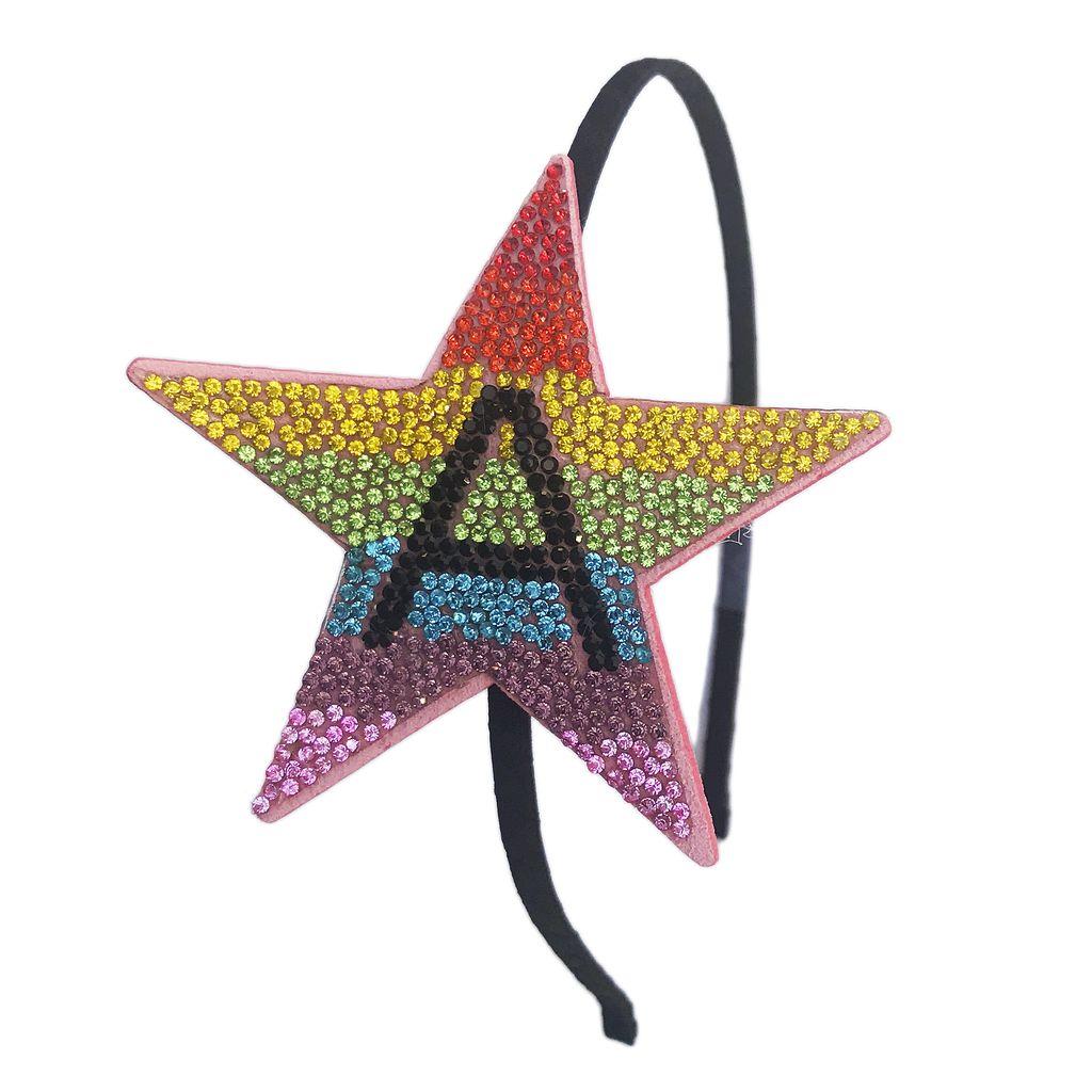 Bari Lynn Rainbow Initial Headband - Bari Lynn Accessories