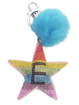 Bari Lynn Bari Lynn Initial Rainbow Star Keychain