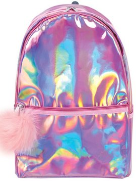 Iscream Pink Holographic Backpack - Iscream