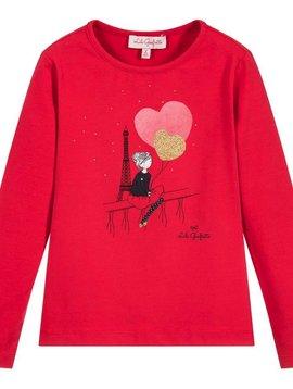 Lili Gaufrette Red LS top Heart Balloons - Lili Gaufrette