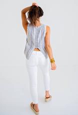 Women's Clothing Multi Stripe Gauze Tank