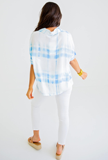Women's Clothing Tie Dye Vneck Collar Shirt