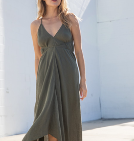 Women's Clothing String Wrap Halter Dress