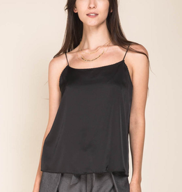 Women's Clothing Satin Cami w/ Scalloped Neckline