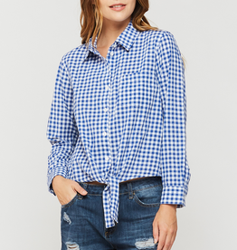Women's Clothing Kamala - Long Sleeve Gingham Button Up