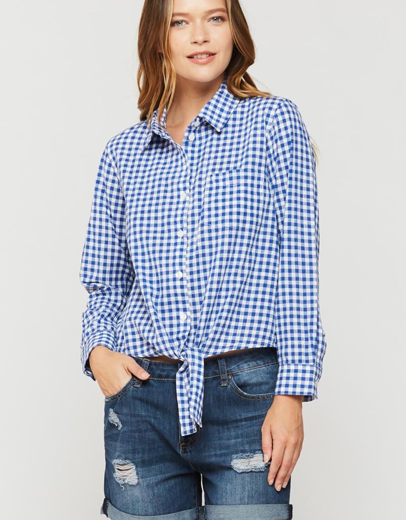 Women's Clothing Kamala - Long Sleeve Gingham Button Up