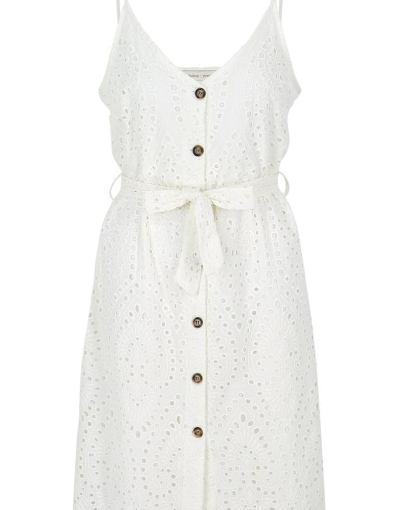 Women's Clothing Crochet Button Down Dress