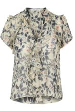 Women's Clothing Ruffle Sleeve Short Sleeve Top