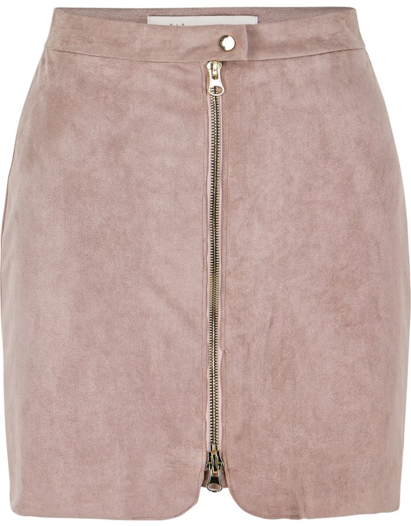 Women's Clothing Exposed Zip Mini Skirt