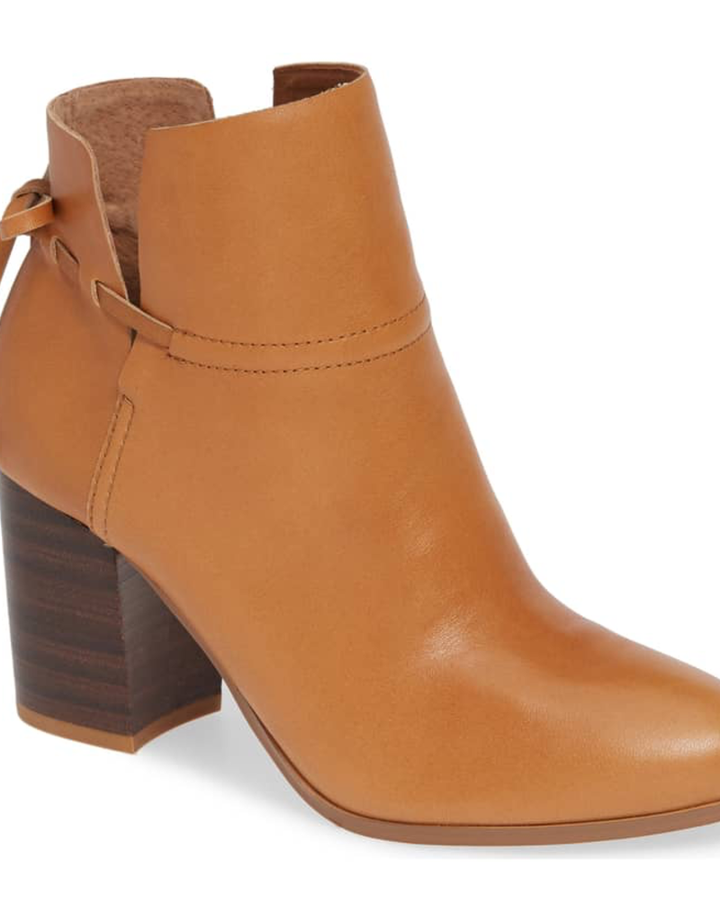 Welseyle - Short Bootie W/ Split Sides and Leather String Tie