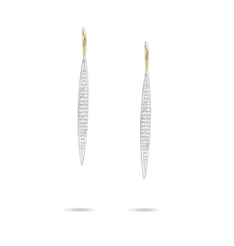 Large pave marquise earrings- MXD