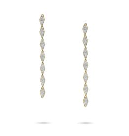Pave Diamond Link Earrings - Y14k Gold