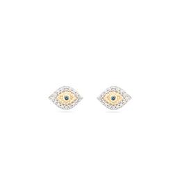 Super Tiny Pave Evil Eye Posts