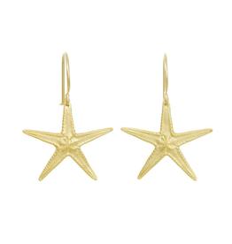 Large Starfish Earrings, 18k GV