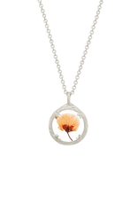 """Mini Botanical Dried Flower Necklace, 18"""", SS"""