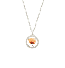 "Mini Botanical Dried Flower Necklace, 18"", SS"