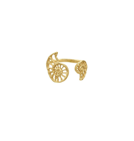 Open Double Nautilus Cut Out Sell Ring, 18k Gold Vermeil