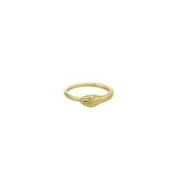 18k GV Snake Ring W/ White Topa
