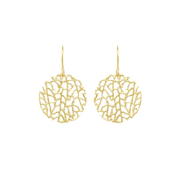 Mini Coral Disc Earrings - Vermeil